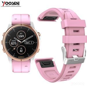 Image 1 - Ремешок YOOSIDE для часов Fenix 6S, 20 мм, Быстросохнущий Силиконовый водонепроницаемый спортивный браслет для Garmin, Fenix, 5S, Plus, Смарт часы