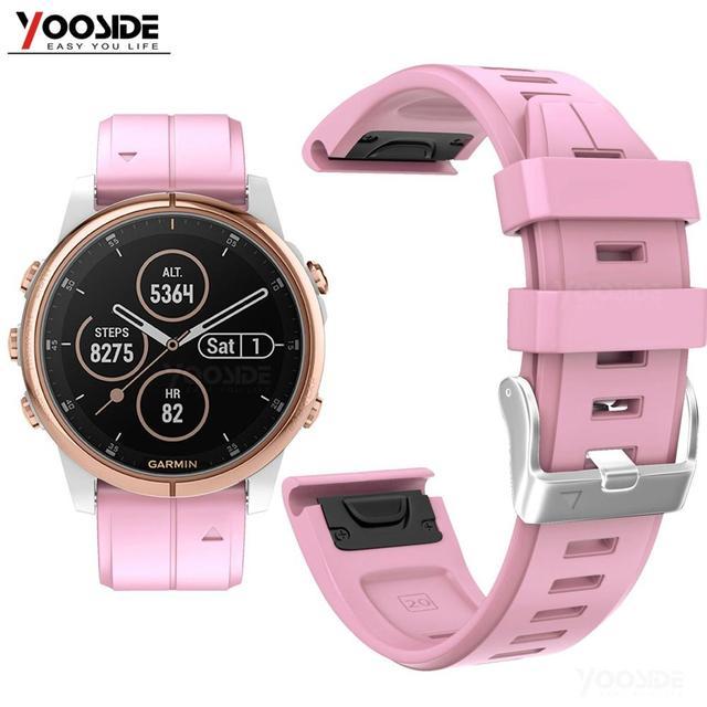 Ремешок YOOSIDE для часов Fenix 6S, 20 мм, Быстросохнущий Силиконовый водонепроницаемый спортивный браслет для Garmin, Fenix, 5S, Plus, Смарт часы