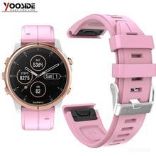 Yooside pulseira de relógio de silicone, pulseira para fenix 6s 20mm de ajuste rápido, pulseira esportiva impermeável para garmin fenix 5S/5S plus smartwatch