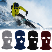 Motorcycle Face Mask Outdoor Winter Sports Cold Protection Fleece Cap Cycling Ski Full Face Mask Breathable Windproof TSLM2