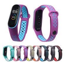 For Mi Band 3 4 5 6 strap sport Silicone watch wrist Bracelet miband strap accessories bracelet smart for Xiaomi mi band 4 strap