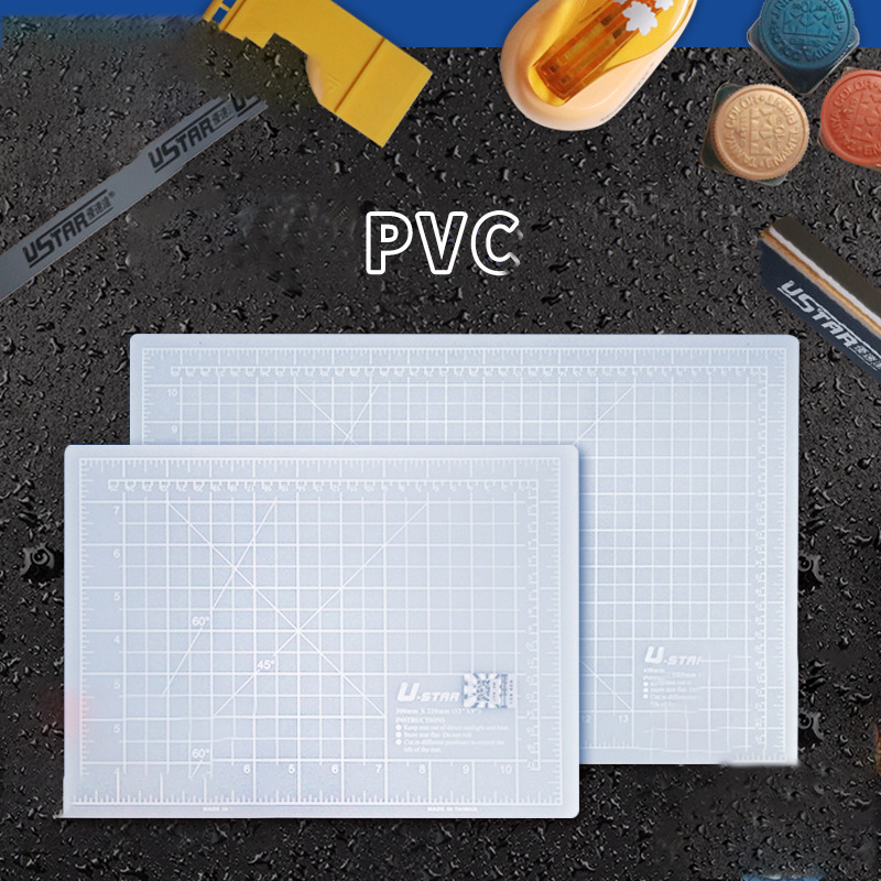A4 / A3 Iceberg Ash Cutting Mat Diy Manual Grid Line Self-healing Cutting Pad Craft Card Leather Self-healing Cutting Board