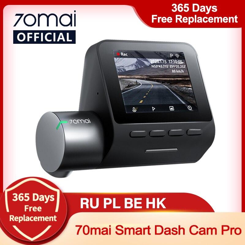 70mai Smart Dash Cam Pro 1944P голос Управление Скорость координаты GPS ADAS 70mai Pro автомобиля тире Камера 70mai плюс Видеорегистраторы для автомобилей 24 часа в...
