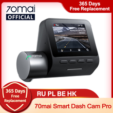 70mai Smart Dash Cam Pro 1944P controllo vocale velocità coordinate GPS ADAS 70mai Pro Car Dash Camera 70mai Plus Car DVR 24H parcheggio
