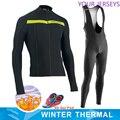2020 inverno nova nw pro equipe de lã quente bicicleta equitação terno dos homens manga longa mountain bike roupas terno esportes ao ar livre