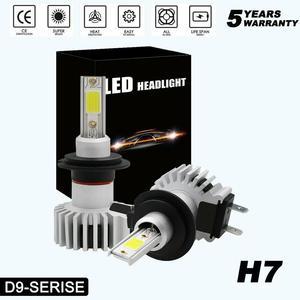 2 шт. супер белые Автомобильные фары H7 led h4 интерфейс для H1, H3,H4,H11,H8,H9 9005,HB3,H10,9006,HB4,9012,HIR2 H10 6000K