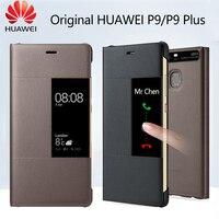 Huawei-Funda P9 Original, carcasa abatible oficial, con ventana de cuero PU, protección completa, para teléfono