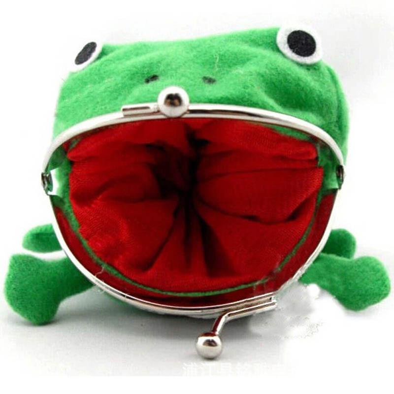 1 шт кошелек для монет Мягкий Пушистый Плюшевый с лягушкой модные