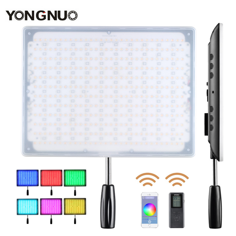 <font><b>YONGNUO</b></font> <font><b>YN600</b></font> LED Video Light RGB Wireless Bluetooth Remote by Phone APP Adjustable Bicolor 3200K-5500K Dimmable for Canon Nikon image