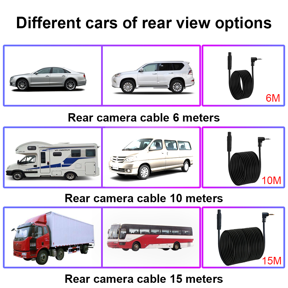 """R-Way 10"""" Dash Cam for Car, 2.5D IPS Mirror  Auto DVR Recorder with Rearview Camera, 1080P HD Video Rec Black Box 5"""