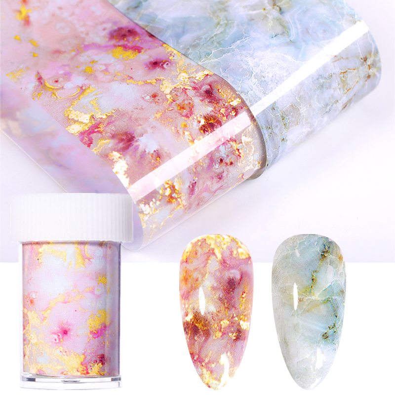 125x4cm Nail Foils Marble Pattern Nail Sticker Nail Art Transfer Foils Manicuring DIY Tips Sticker Decoration Nails Accessories