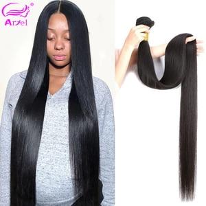 Straight Hair Bundles Brazilian Hair Weave Bundles 100% Human Hair Bundles 28 30 Inch Bundles Straight Remy Hair Extension Ariel(China)