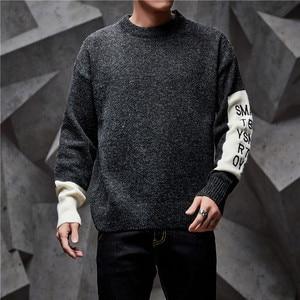 Image 4 - SingleRoad 두꺼운 스웨터 남자 2019 겨울 양모 옷 니트 풀오버 캐시미어 스웨터 남성 느슨한 패션 점퍼 고품질