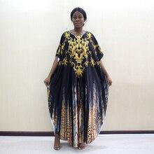 Yeni gelenler afrika moda tasarım altın çiçek hayvan desen baskılı o boyun Batwing kollu afrika moda anne elbiseler