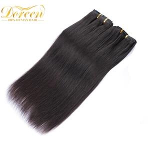 Doreen, 160 г, 200 г, 240 г, бразильские волосы Remy, прямые человеческие волосы для наращивания на заколках, полный комплект, 10 шт., 16-24 дюйма, DHL