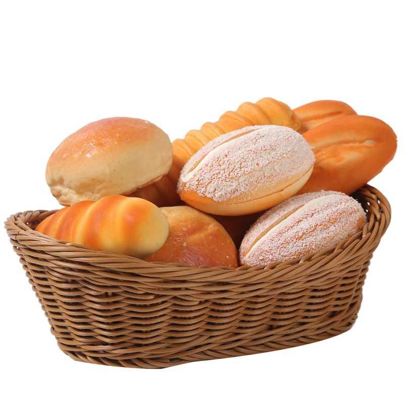 Owalny wiklinowy tkany kosz koszyk na chleb kosz do serwowania, 11 Cal kosz do przechowywania żywności owoce przechowywanie kosmetyków blat i kąpiel