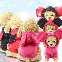 Sudadera con capucha con orejas grandes para perro y XS-2XL, ropa para cachorro de perro, Polar, suave, cálida, bonita, dibujos animados, para invierno