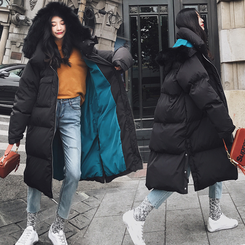 Down Women's Jacket Long Korean Winter Coat Women Oversized Thick Duck Down Clothes Raccoon Fur Collar 2020 850 KJ2552