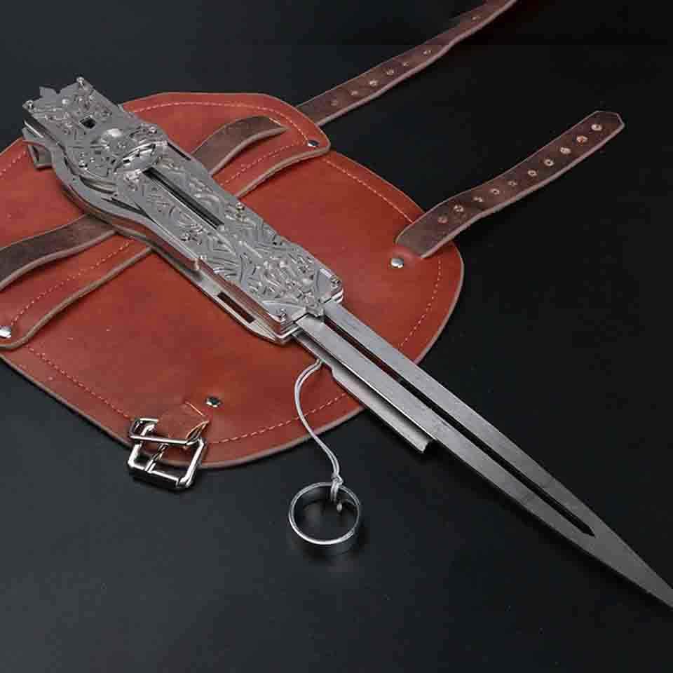 Logam Pisau Pisau Tersembunyi Lengan Pedang Action Figure Pisau Tersembunyi Edward Senjata Lengan Pedang Dapat Ejeksi Mainan Anak