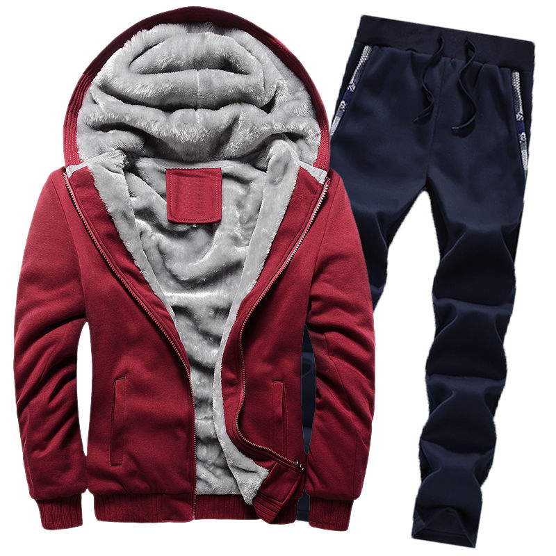 2019 Winter Mens Sport Suits Velour Tracksuit Set Zip Hoodie Sweatshirt Track Pants 2piece Casual Warm Velvet Mens Sweat Suits Buy At The Price Of 7 28 In Aliexpress Com Imall Com
