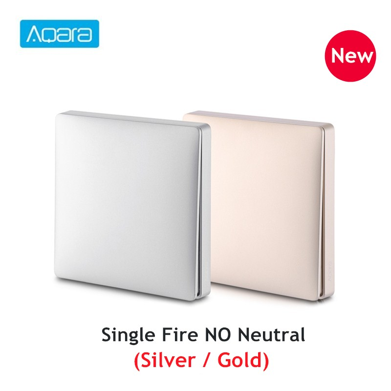 New Arrival Aqara Wireless Wall Switch Home Switch Panel Single Fire Wire Intelligent Linkage APP Remote Control Light Switch