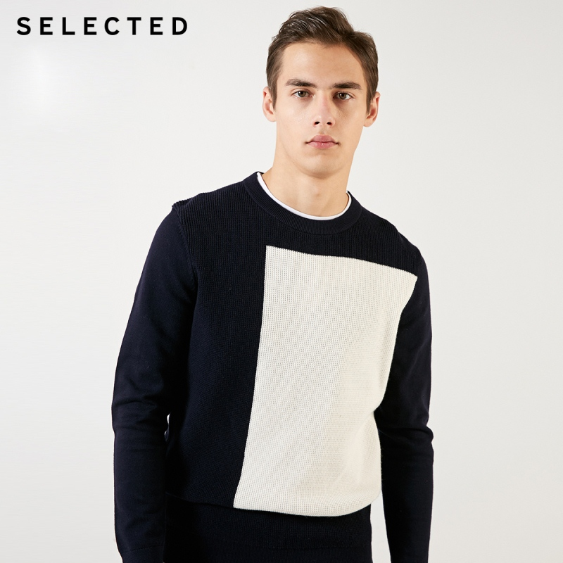SELECTED Geometrical Pattern Sweater Men's Assorted Colors Pullover Clothes O-Neck Knit Sweater S | 419124553