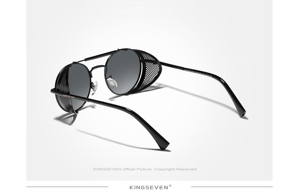 H80139d2b7e5444368b29dfa8251a43f6Q Genuine GIFTINGER Retro Round Steampunk Sunglasses Men Retro Women Sun Glasses Shades Vintage Travel Eyewear Gafas De Sol 7550