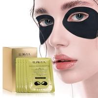 Ilisya Aufhellung Schwarz Augen Maske für Augenringe Feuchtigkeitsspendende Auge Patches Schwellungen Anti-aging Falten Auge Pad-10 pairs