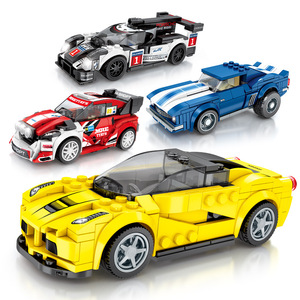 Image 2 - 速度チャンピオンスーパーカー互換レースレンガ車スポーツロードスタービルディングブロック教育 DIY のおもちゃ子供のギフト