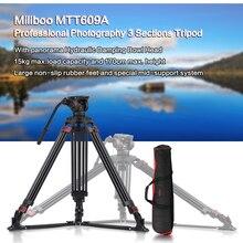 Miliboo حامل ثلاثي احترافي MTT609A ، لكانون ، نيكون ، سوني ، DSLR ، كاميرا الفيديو ، التصوير الفوتوغرافي ، مع رأس كروي هيدروليكي