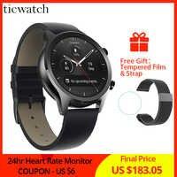 Ticwatch C2 Smartwatch Android OS Wear Eingebaute GPS Herz Rate Monitor Fitness Tracker Google Zahlen 400mAh 1-1,5 tage 1,3 ''AMOLED