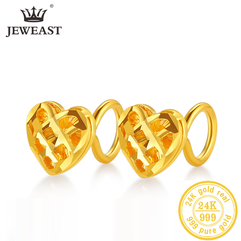 JLZB 24K Pure Gold Earring Real AU 999 Solid Gold Earrings Nice Good  Upscale Trendy Fine Jewelry Hot Sell New 2020