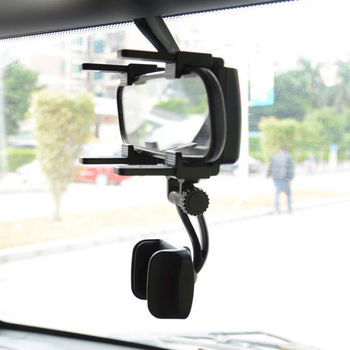 Car Camera Vehicular DVR Rearview Mirror Mount Holder Stand Cradle For Cell Phone GPS Universal 360 Degree Recorder Sunvisor image