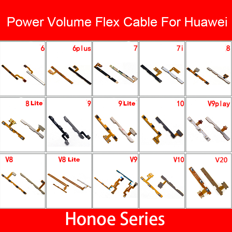 Power&Volume Flex Cable For Huawei Honor 6 7 7i 8 8x 9 9i 10 20 Pro Plus Lite MAX Play Power Volume Control Switch Button Repair