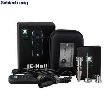 LTQ Vapor IE-Nail Kit Temperature Control Wax Dry Herb Device Dabber 16mm Heat Coil Ti Quartz Nail Titanium Carb Cap Dab Tool