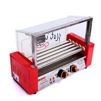 Electric Hot Dog Machine Sausage Baking 5 Rollers Grill Commecial Hot Dog Roller Grill Machine