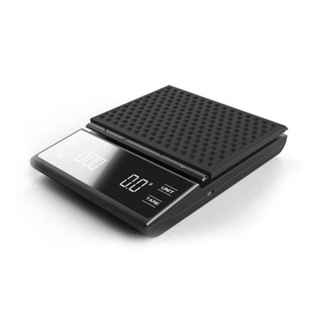 Balances de café de Charge dusb de prévente avec la minuterie 3KG/0.1g balances électroniques multifonctionnelles de poinçon de main de balance de cuisine numérique intelligente