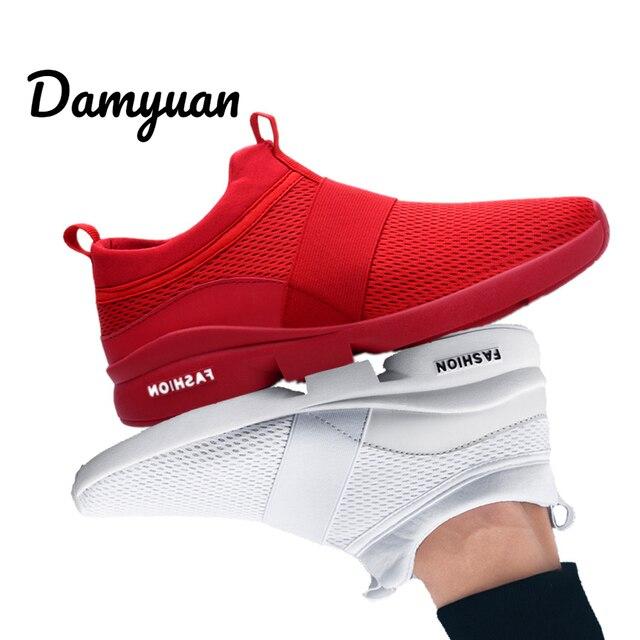 Damyuan/Новинка 2019 года; модные мужские и женские удобные дышащие Повседневные Легкие кроссовки из сетчатого материала; размер 46