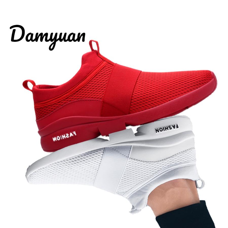 Damyuan 2019 nouvelle mode hommes femmes Flyweather confortable respirant Non-cuir décontracté léger taille 46 Sport maille Jogging chaussures