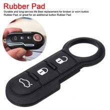 3 кнопки, черная кожа, мягкая кнопка, резиновая накладка, Автомобильный ключ, оболочка для Fiat 500, пульт дистанционного управления, чехол, пульт дистанционного управления, Автомобильный ключ, накладка