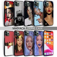 Mobile-Phone-Case Rihanna 8-Plus-Cover 12 Mini Silicone for 7 Popolar Xr 11 Pro-Max X-Xs