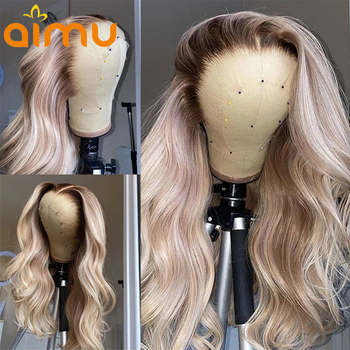 613 Honey Blonde 13x6 Lace Frontal Wigs For Women Deep Part Invisible HD Transparent Wig Colored Ombre Pre plucked Glueless image