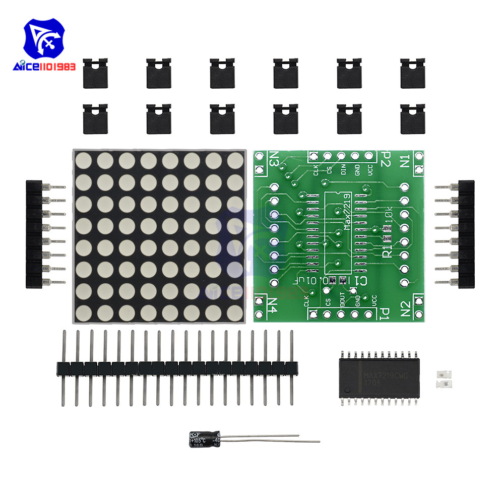 Diymore MAX7219 8x8 Red LED Matrix Module Driver Board DIY Kit For Arduino