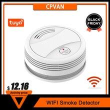 CPVan חכם עשן גלאי Tuya APP שליטה אלחוטי עשן אש גלאי אזעקת חיישן עבור אבטחה בבית חכמה