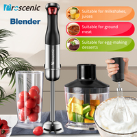 Proscenic Hand Blender Stick Powerful Immersion Portable Blender 4 in 1 set for Kitchen Whisk Beaker Juicer Mixer Smoothie Baby