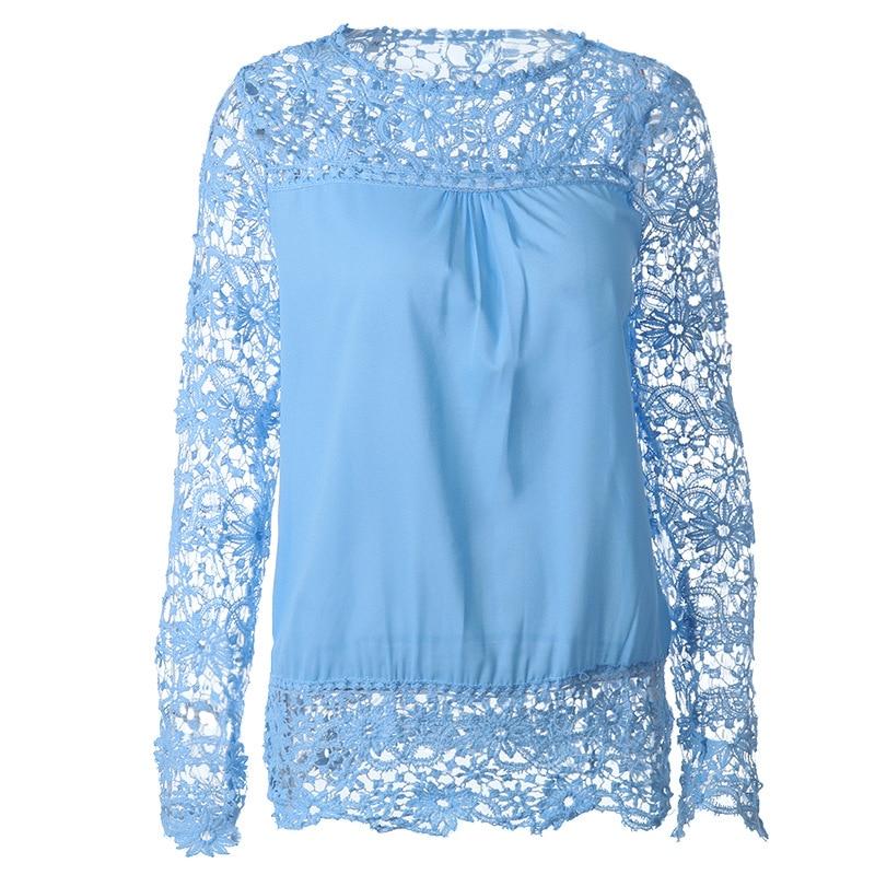 Plus Size Spring Summer White Blouses Women Blouses Lace Blouse Patchwork Loose Shirt Hollow Out Chiffon Blouses Blouses Clothes