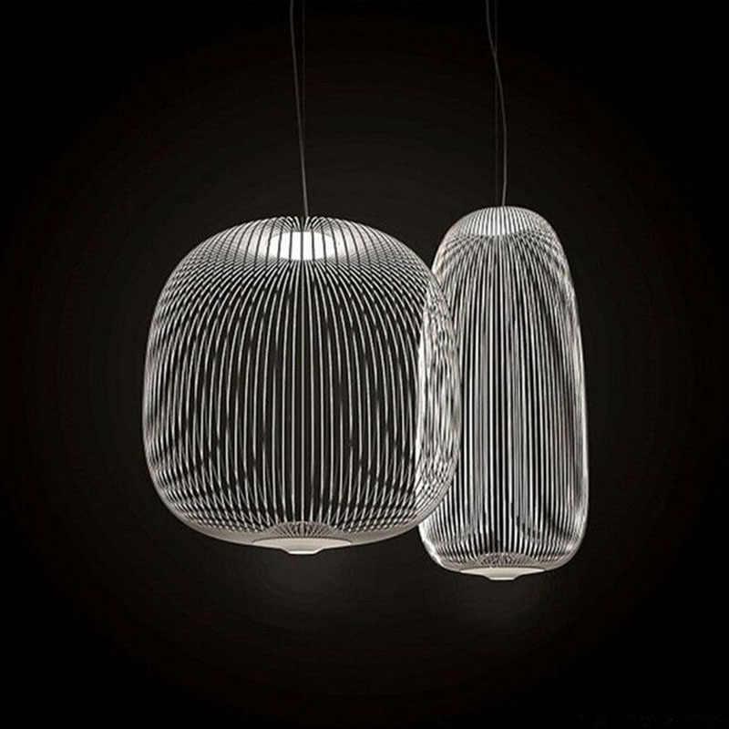 Постельные современные подвесные светильники промышленные птичьи клетки светильник для столовой гостиной домашний декор светодиодная Подвесная лампа