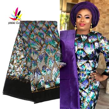 High Quality French Tulle Lace With Sequins African Tulle Mesh Lace Fabrics For Wedding 2020 Nigerian Net Lace