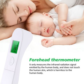 High Quailty Thermometer Digital Body Temperature Fever Measurement Forehead Non-Contact Infrared LCD IR Thermometer Baby Adult baby digital thermometer ir infrared thermometer non contact forehead body surface temperature instruments data hold function