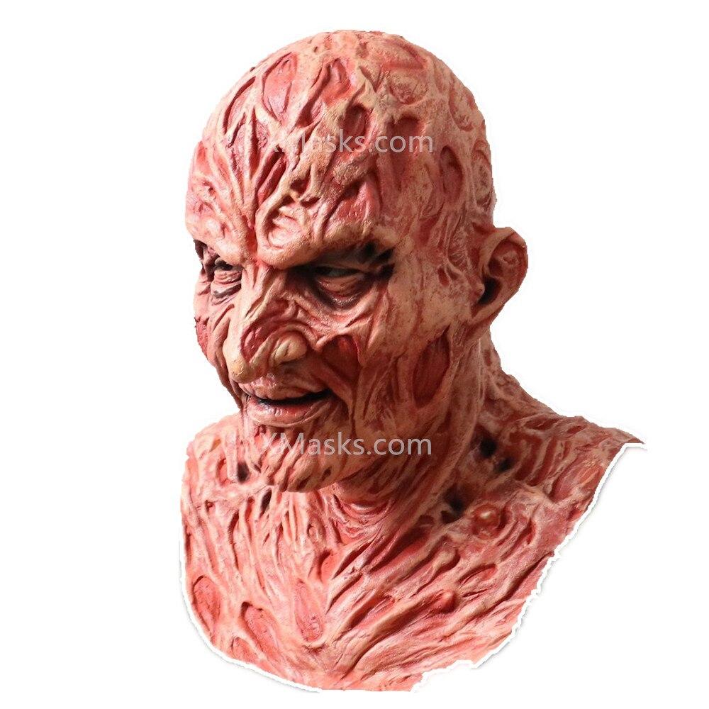 New Bloody Freddy Krueger Mask Latex Adult Party Costume Friday 13th Killers Jason Horror Slasher Scary Masks Larp Jason